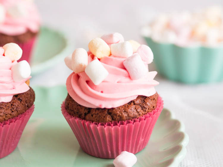 muffinki z kremem marshmallow