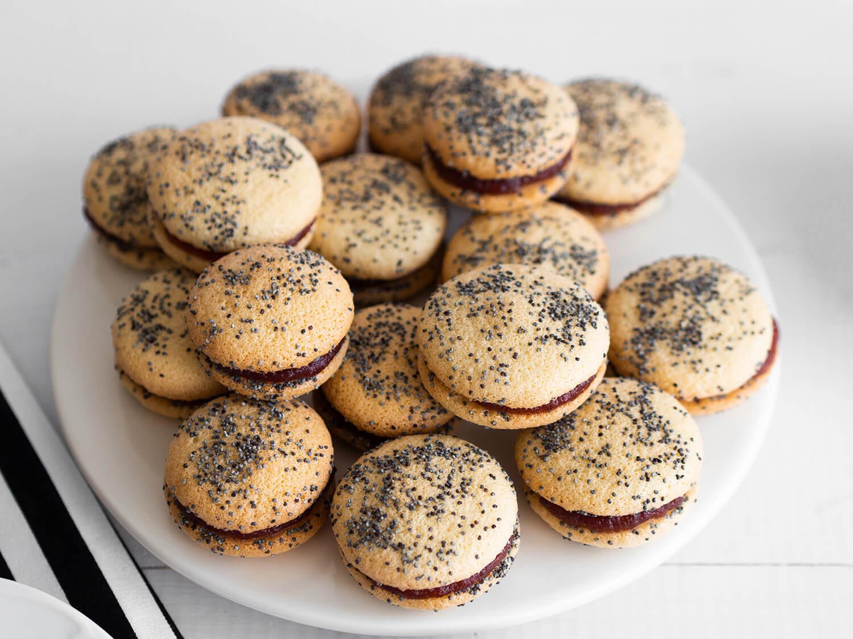 biszkoptowe ciasteczka z makiem