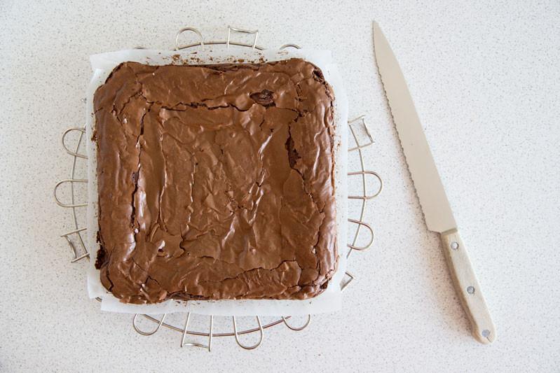 upieczone brownie
