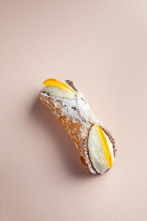 cannoli z kandyzowaną skórką pomarańczy