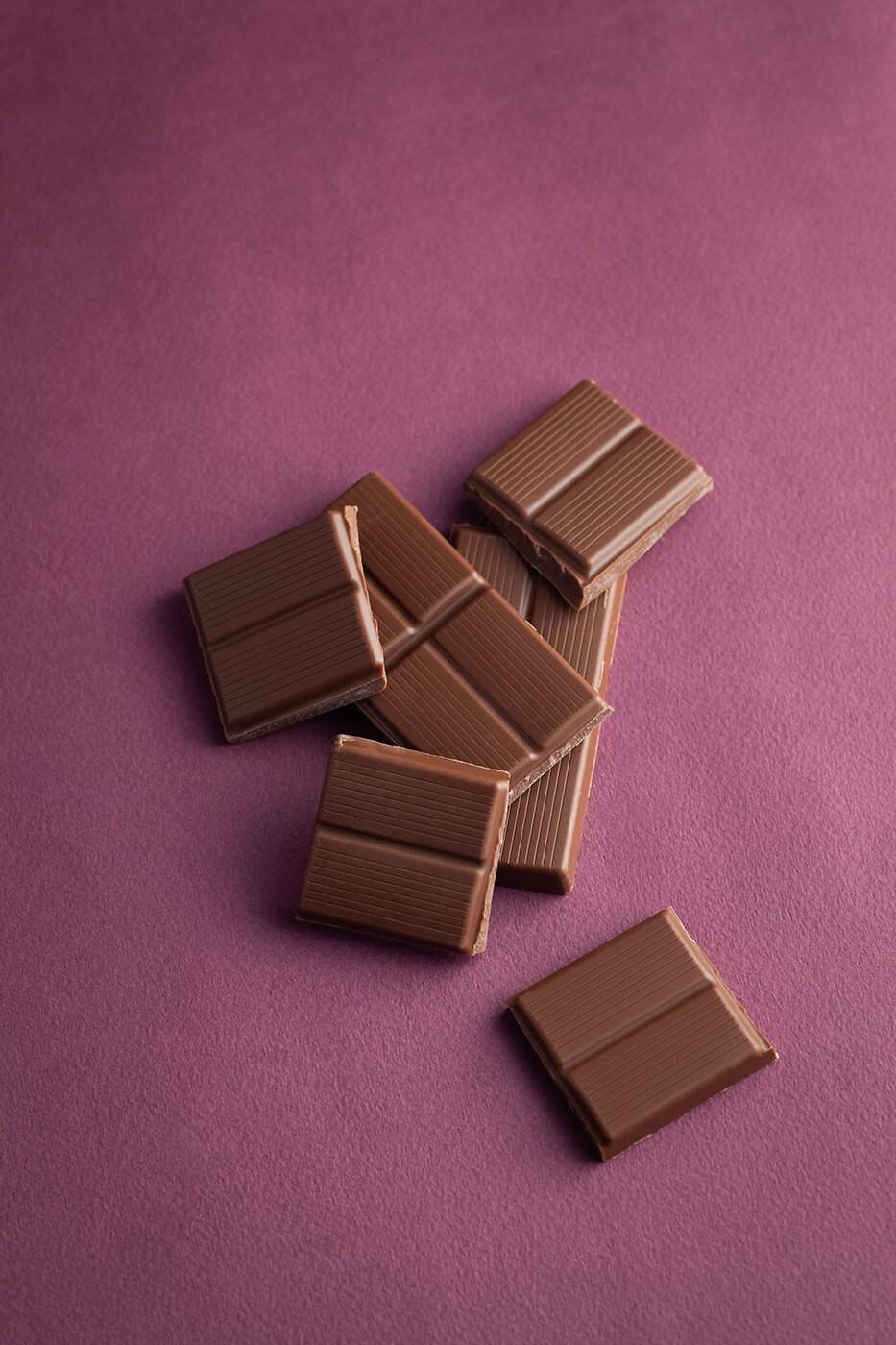 Kawałki mlecznej czekolady