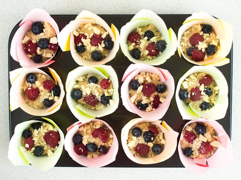 ciasto na muffinki w papilotkach