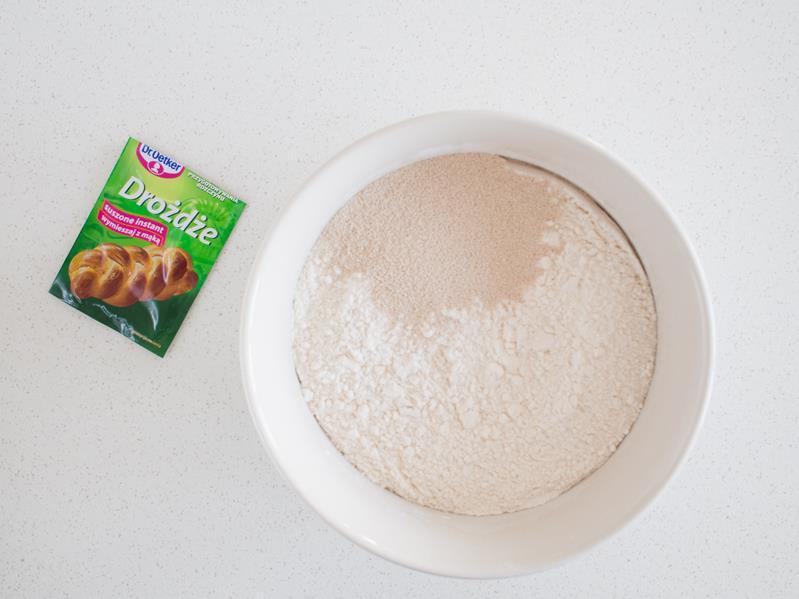 mąka, drożdże suszone
