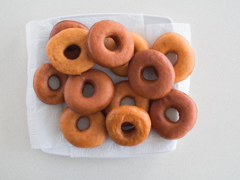 usmażona donuty