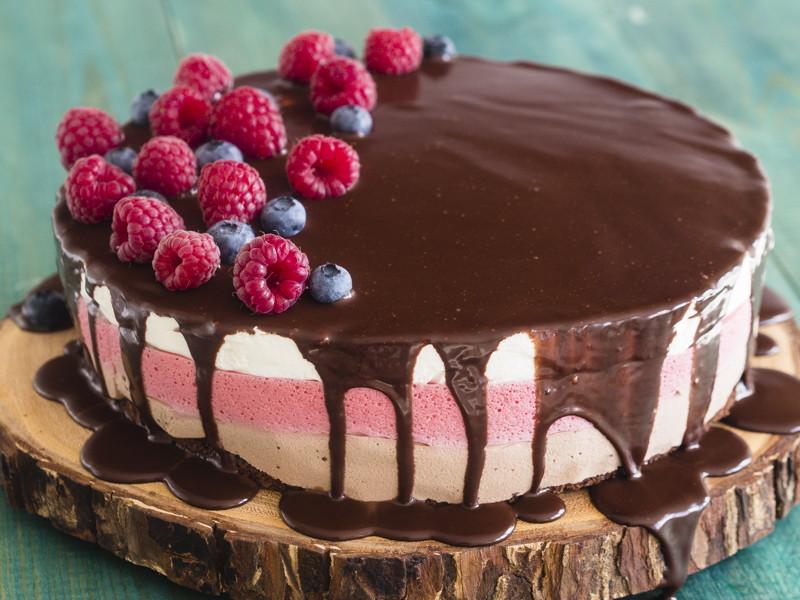 Torcik malinowo-czekoladowy