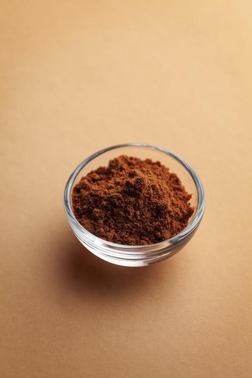 Kakao w szklanej miseczce