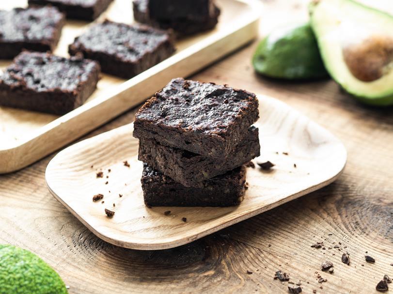Brownie z awokado bez glutenu