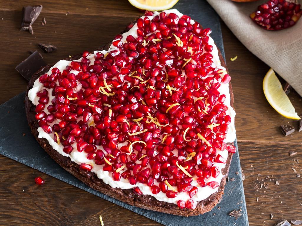 czekoladowe ciasto z granatem