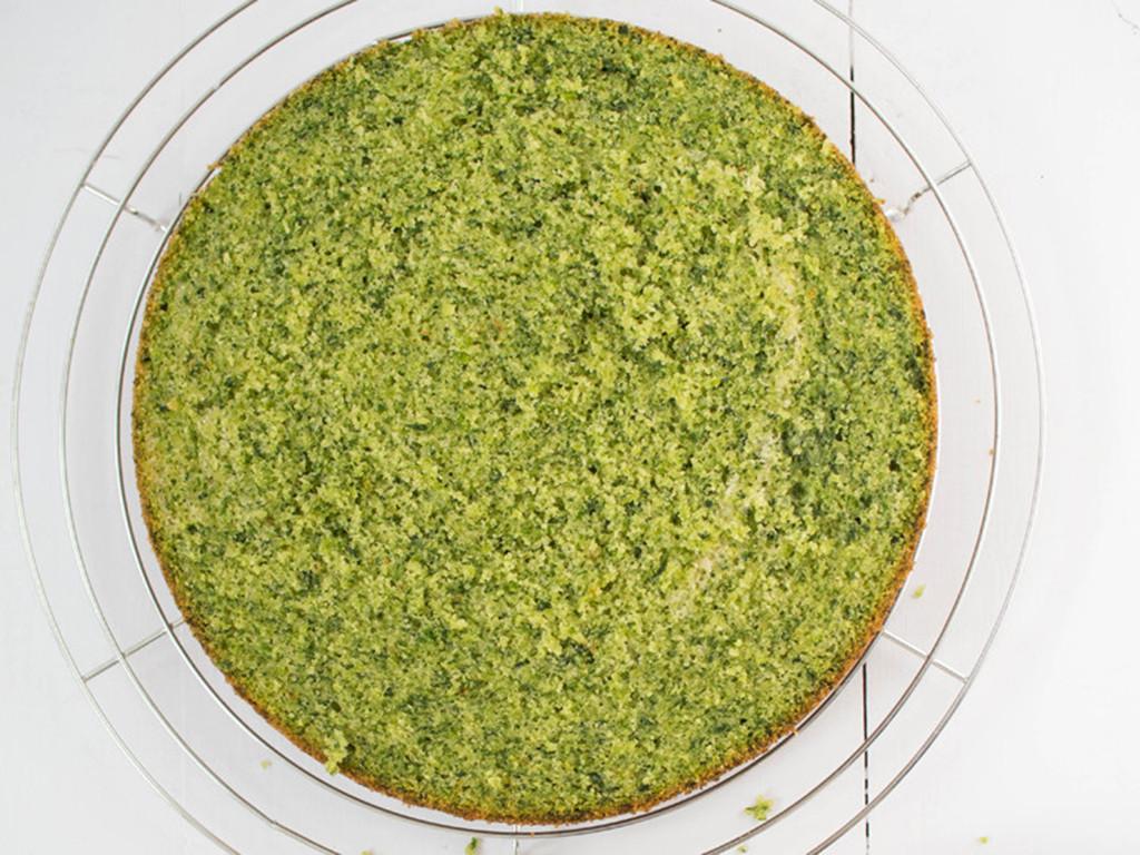 leśny mech ciasto ze szpinakiem zielony biszkopt - wszystkiego słodkiego