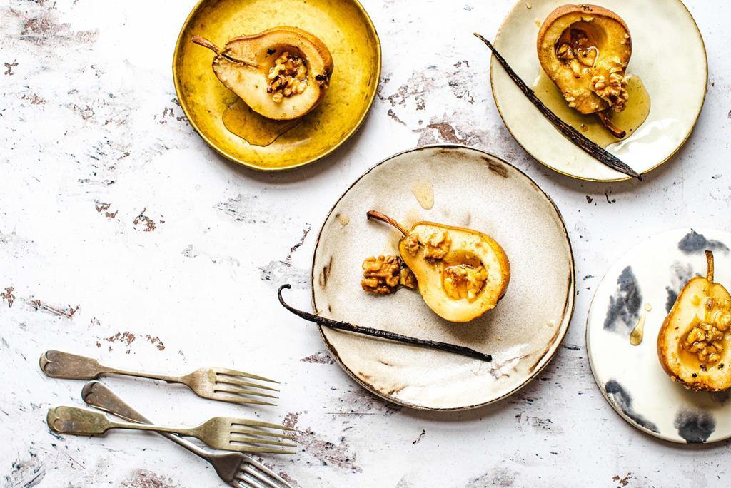 Gruszki pieczone z wanilią