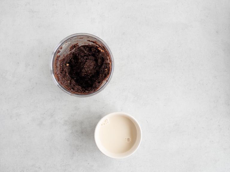 masa orzechowo-czekoladowa, mleko migdałowe
