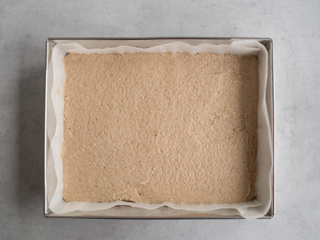 warstwa masy z białego maku