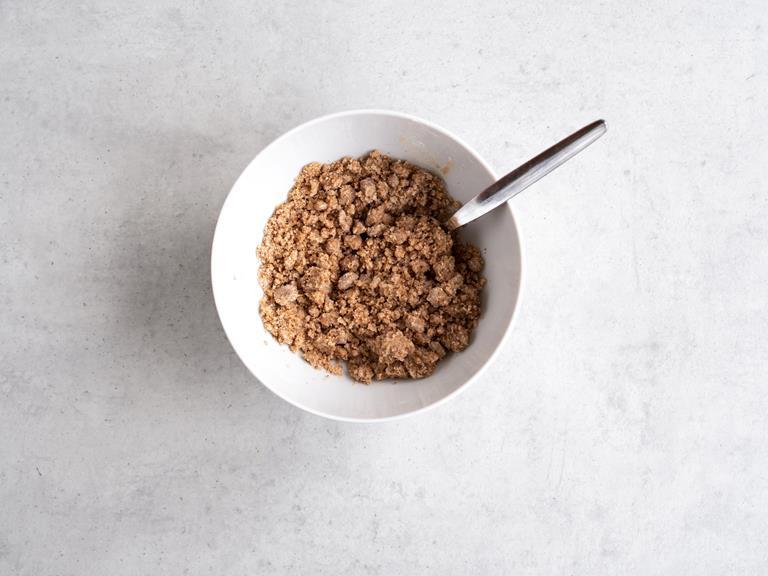 Kruszonka z mąki ryżowej w miseczce.
