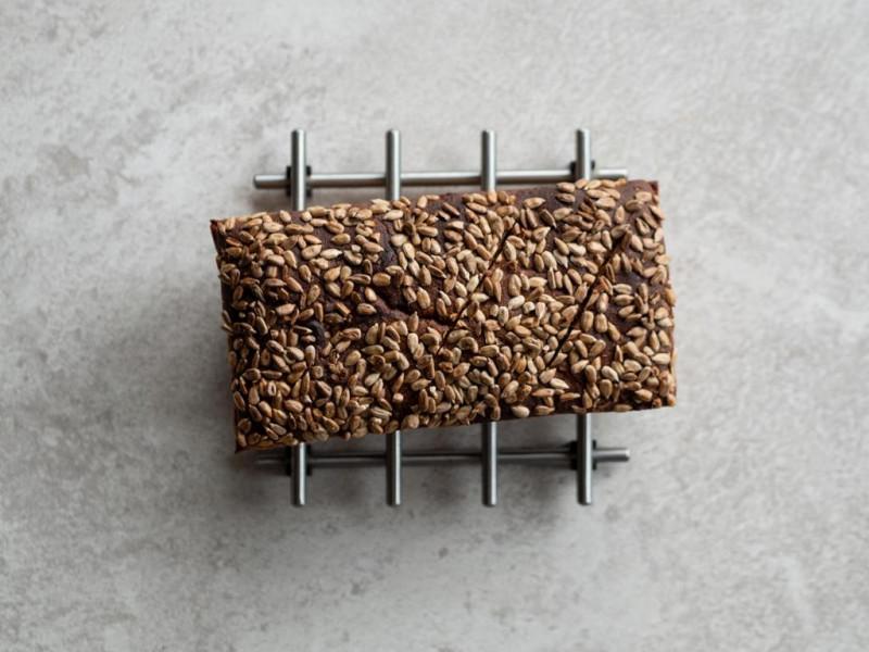 prosty chleb żytni na zakwasie ze słonecznikiem