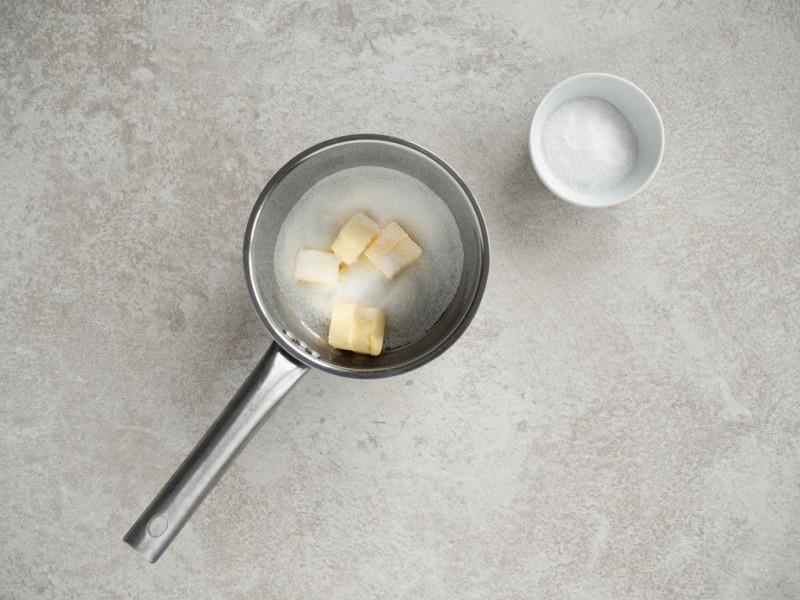 masło, cukier, sól