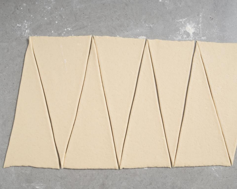 zwijanie trójkątów w croissanty