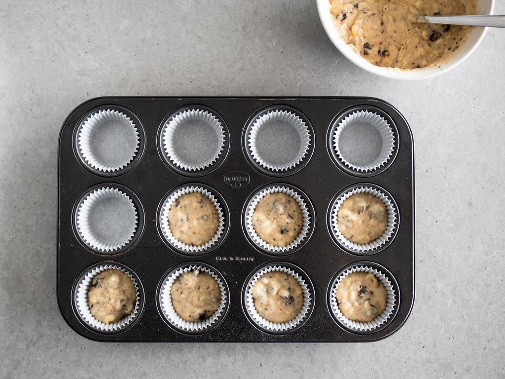 ciasto na muffinki bananowe w papilotkach