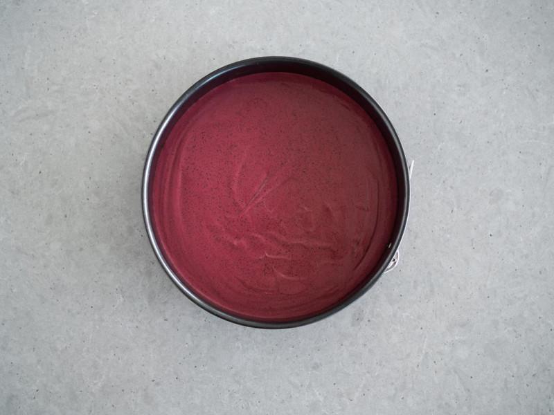 warstwa jagodowa sernika na zimno