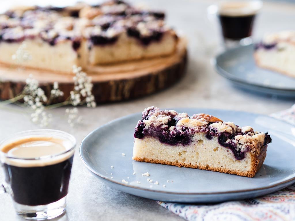 jogurtowe ciasto z jagodami do kawy Wszystkiego Słodkiego