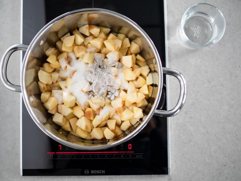 prażone jabłka z cukrem z wanilia bez glutenu Dr. Oetkera