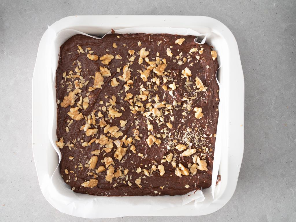Brownie przed upieczeniem.