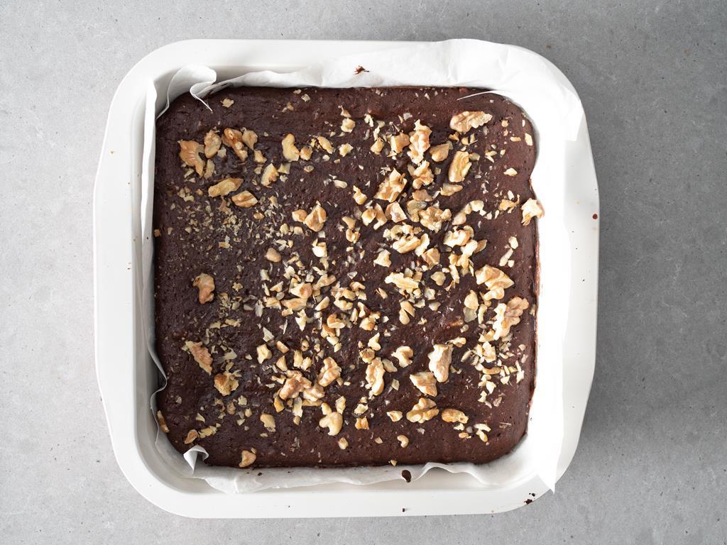 Brownie po upieczeniu.