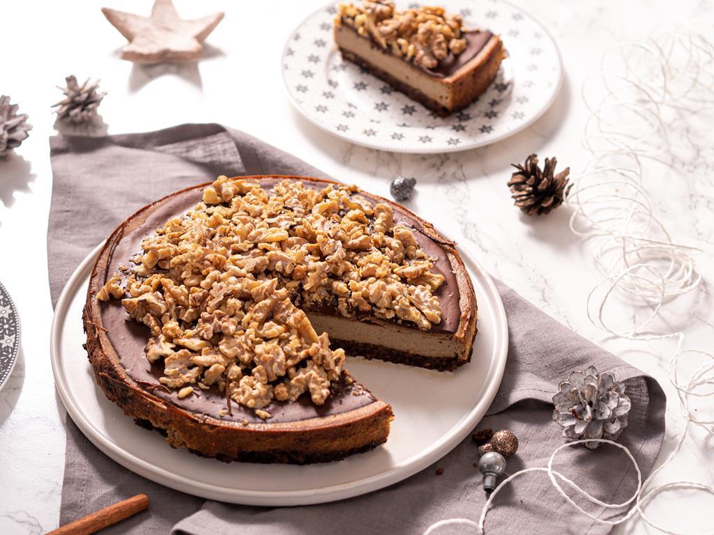tofurnik piernikowy z czekoladą i orzechami włoskimi - Wszystkiego Słodkiego