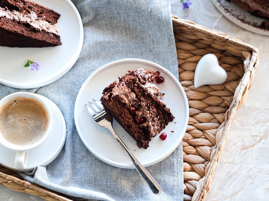 torcik czekoladowy bez glutenu do kawy na walentynki