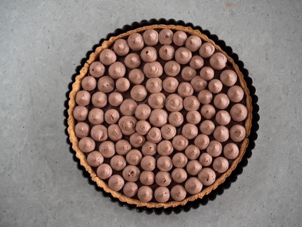kawowa tarta z kremem czekoladowym