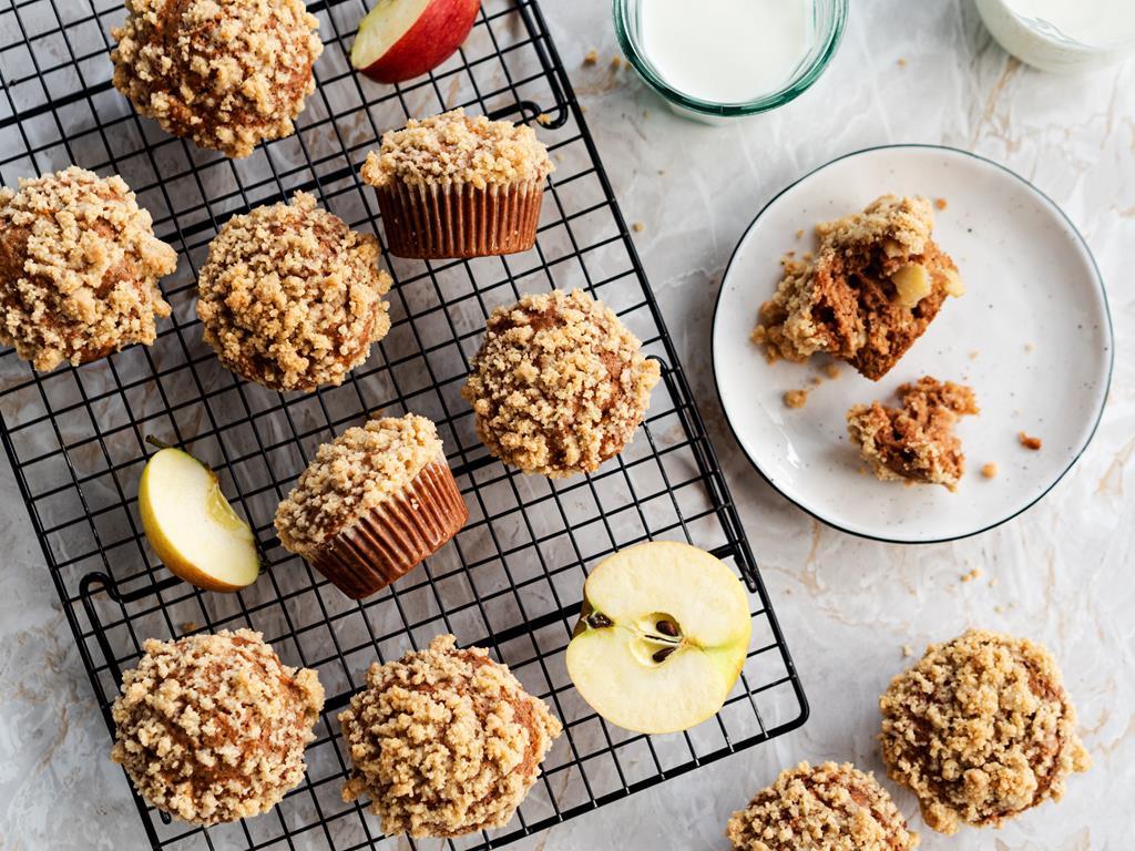 muffinki orkiszowe z jabłkami na drugie śniadanie