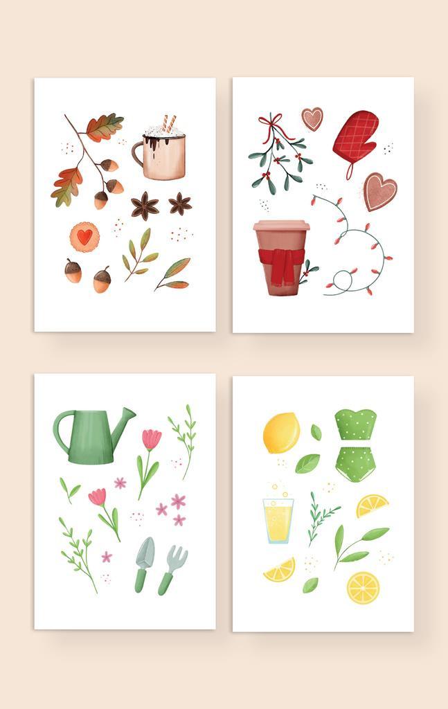 plakaty 4 pory roku