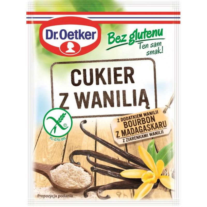 Cukier z wanilią Bourbon z Madagaskaru bez glutenu Dr. Oetker
