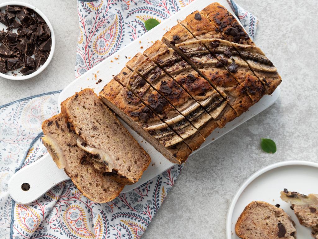 chlebek bananowy bez jajek, mleka i mąki z czekoladą gorzką - Wszystkiego Słodkiego